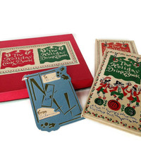 Christmas Cocktail and Entertaining Recipe Books, Holiday Gift Set, 1950