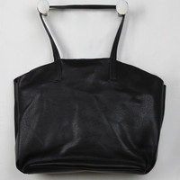 Black Pebbled Tote