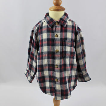 Faded Glory Long Sleeve Flannel Top , size 18 mo