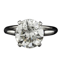 Cartier mounted 4.74ct Round Brilliant Cut Diamond Ring