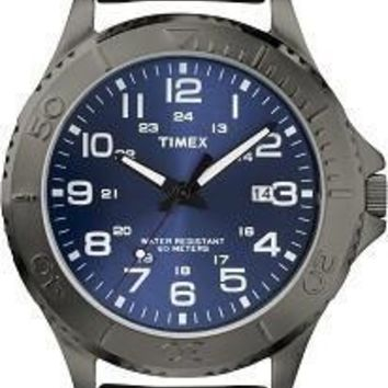 Timex Mens Elevated Classics Gunmetal Dress Watch