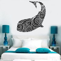 Vinyl Wall Decal Whale Ocean Sea Marine Decor Stickers Mural Unique Gift (464ig)