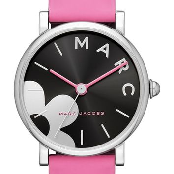 Marc Jacobs Classic Silicone Strap Watch, 36mm | Nordstrom