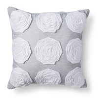 Xhilaration® Rosette Jersey Decorative Pillow