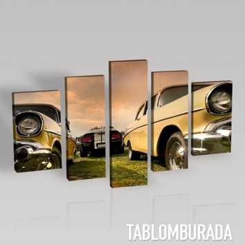 Chevrolet Photo Print on Canvas + Old Car Canvas + 5 Panel + Ready to Hang