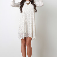 Semi Sheer Crochet Stitch Dress
