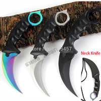 CS GO Counter Strike Karambit Knife handmade hunting knives Fighting Claw Knife tactical survival pocket Neck knife camping tool