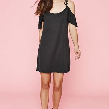DCCKYB5 Kendall & Kylie Cupro Cold Shoulder Dress