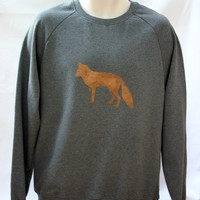Foxy Sweatshirt  unisex  low carbon organic by TheLPHProject