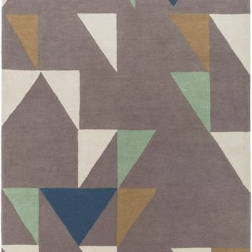 Scion Geometric Area Rug Brown, Neutral