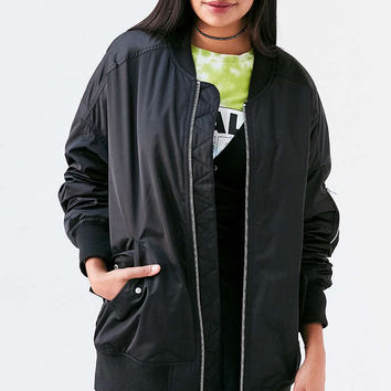 Silence + Noise Venice Oversized Bomber Jacket - Urban Outfitters