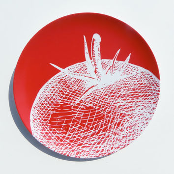 Vintage Tomato Melamine 10 Plate Red by nicoleporterdesign on Etsy