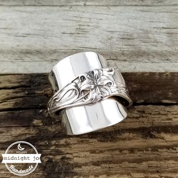 Lily Spoon Ring Sterling Silver