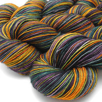 Flower Shop Inferno- Hand Dyed Yarn - Sock Yarn - Worsted Yarn -  Dyed to Order