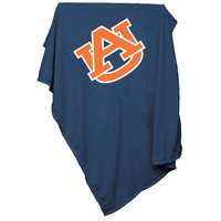 Auburn Tigers NCAA Sweatshirt Blanket Throw (Blue)