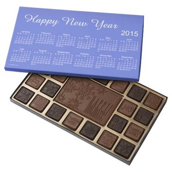 Happy New Year 2015 Calendar by Janz Chocolates