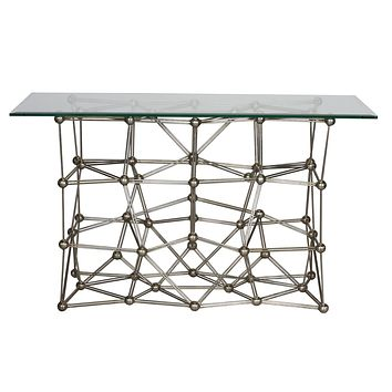 Worlds Away Molecule Iron Console Table