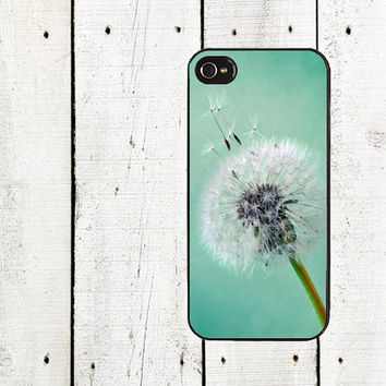 Teal Dandelion Phone Case dandelion iphone case or iphone 5 iphone 5s iphone 5c iphone 4 iphone 4s samsung galaxy s3 s4 Mother's Day