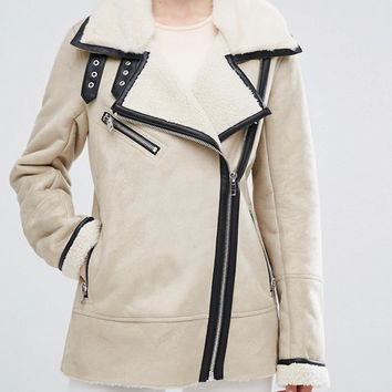 Urbancode Suedette Jacket at asos.com
