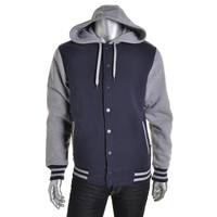Ring Of Fire Mens Fleece Letterman Hoodie