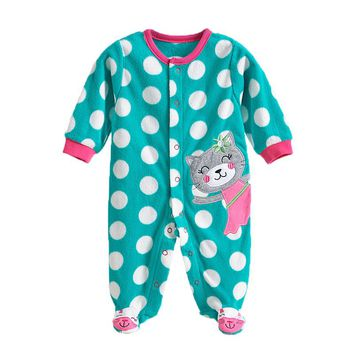 0-12M Spring Autumn Newborn Baby Girl Clothes Random Delivery Long Sleeve Fleece Baby Girl Romper Baby Girl Clothes Jumpsuit V20