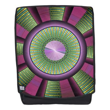 Round And Colorful Modern Decorative Fractal Art Backpack