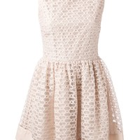 Red Valentino Weave Pattern Dress