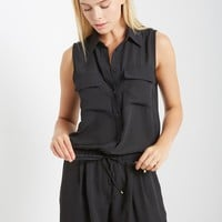 Gone With the Wind Button Down Romper