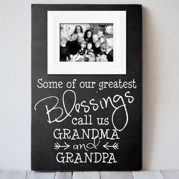 Grandparents Picture Frame - Grandparents Frame Gift- Grandpama Frame - Grandpa Frame - Nana Gift - Papa Gift - Wedding Gift - CreateFrames