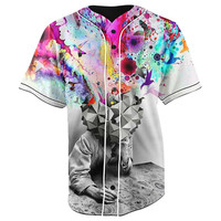 Overthinking Button Up Baseball Jersey