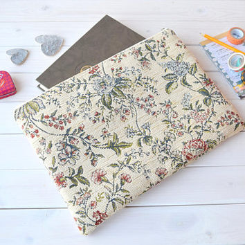 Flowers 13 MacBook case,  MacBook 2017 case, MacBook 11, 12 sleeve, MacBook 13 inch case, MacBook 15 case, laptop sleeve, iPad Air Pro case