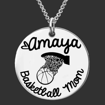 Basketball Mom Personalized Necklace