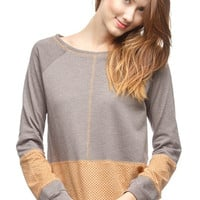 16584   Mocha Colored Knit Top
