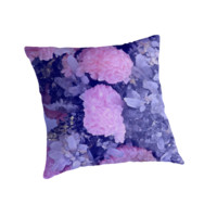 'Blooming Crystals' Throw Pillow by phantastique