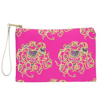 Joy Laforme Far Far Away Elephants in Pink Pouch