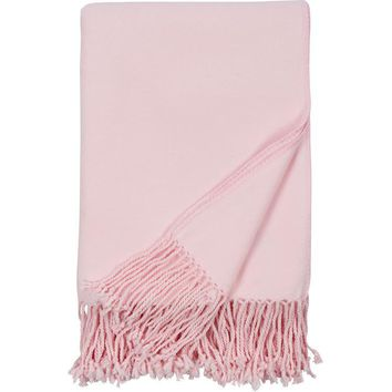 Luxxe Fringe Throw in Pink