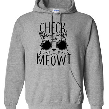 Check meowt hoodie Fashion Funny Cat Gift Meow sweater cat hoodie