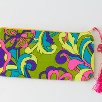 Money Zipper Clutch, Psychedelic Summer