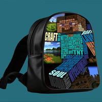 Minecraft Steve Typograpghy for Backpack / Custom Bag / School Bag / Children Bag / Custom School Bag *