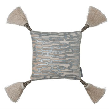 Christian Blush Velvet with Silver Beads Pillow by Lili Alessandra