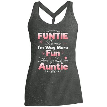 Funny Gift for Aunt Funtie shirt Women tees n tanks