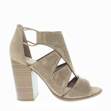 Cut Out Chunky Heel Sandal