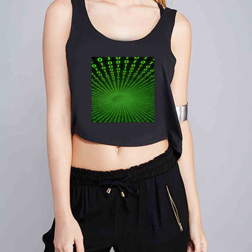 Matrix for Crop Tank Girls S, M, L, XL, XXL *07*