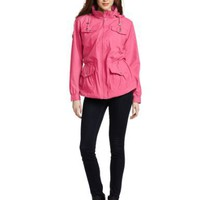 Larry Levine Women`s 4 Pocket Lightweight Packable Spring Anorak $49.99