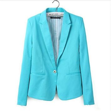 DCCKF4S new hot stylish and comfortable women's Blazers Candy color lined with striped  suit   Free Shipping