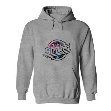 the strokes Hoodies Hoodie Sweatshirt Sweater gray variant color Unisex size
