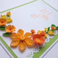 Happy Birthday Quilled Card. Customise with any age or name.