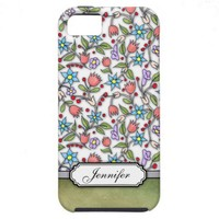 Girly Floral Pattern iPhone 5 Covers from Zazzle.com