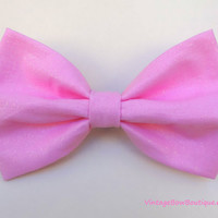 Sparkle cotton candy pink bow hair clip - big bow - bow barrette - kawaii - feminine