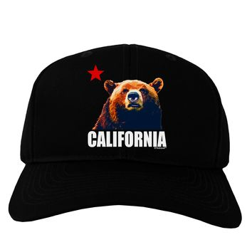 California Republic Design - Grizzly Bear and Star Adult Dark Baseball Cap  Hat by TooLoud 25fadc3b6964